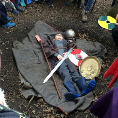 A Viking warrior was buried