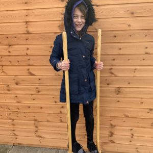 We made stilts!
