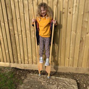 We made stilts