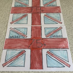 Our VE Day flags