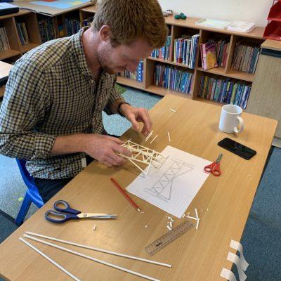 Mr Aylett making his bridge