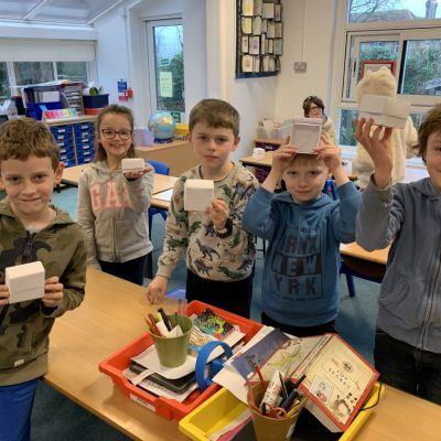 Jade bubble have been making origami boxes with Mrs McNeil.