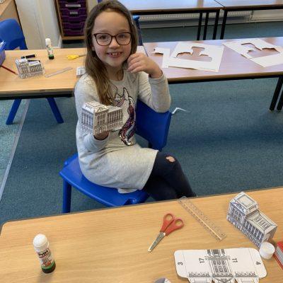 We made models of Buckingham Palace