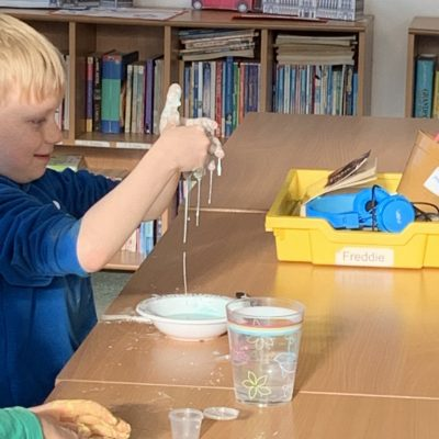 Experimenting with cornflour and water