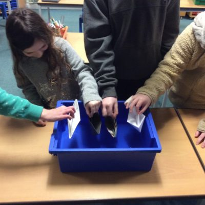 Will our origami boats float?