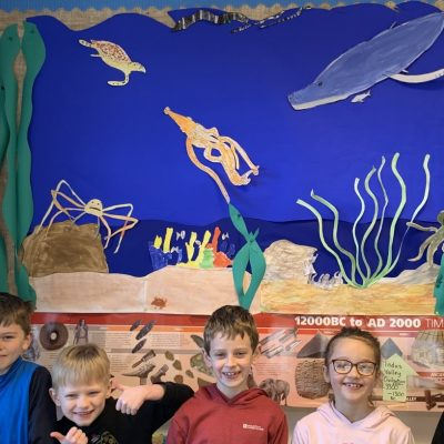 Our 'Colours under the Sea' display as part of the Colours topic